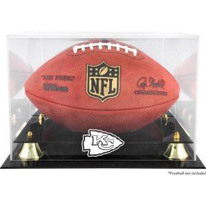Kansas City Chiefs Golden Classic Team Logo Football Display Case