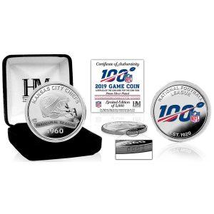 Kansas City Chiefs Highland Mint Silver Game Coins