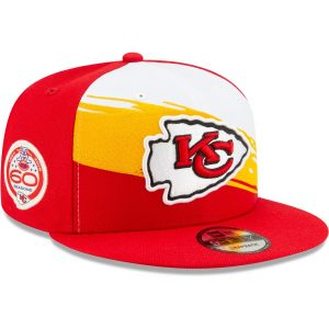 Kansas City Chiefs New Era 60 Seasons Paint 9FIFTY Adjustable Snapback Hat