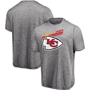Majestic Kansas City Chiefs Gray Showtime Pro Grade Cool Base T-Shirt