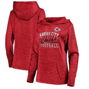 Majestic Kansas City Chiefs Women's Red Showtime Quick Out Pullover Hoodie