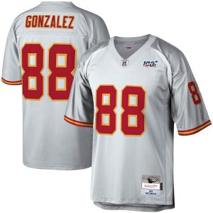 Mitchell & Ness Tony Gonzalez Kansas City Chiefs Platinum NFL 100 Retired Player Legacy Jersey