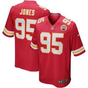 Nike Chris Jones Kansas City Chiefs Red Player Game Jersey