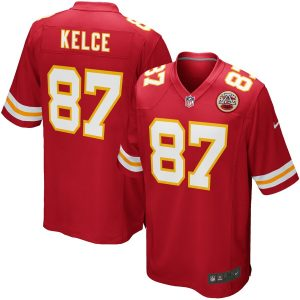 Nike Travis Kelce Kansas City Chiefs Red Team Game Jersey