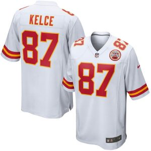 Nike Travis Kelce Kansas City Chiefs Youth White Game Jersey