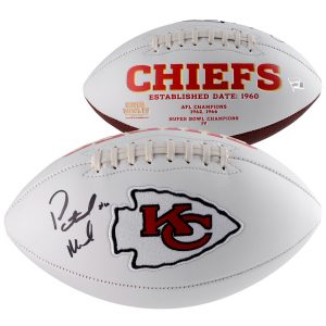 Patrick Mahomes Kansas City Chiefs Autographed White Panel Football
