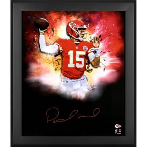 Patrick Mahomes Kansas City Chiefs Framed Autographed 20″ x 24″ In-Focus Photograph