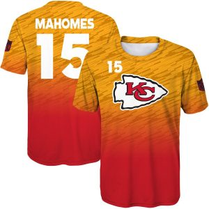 Patrick Mahomes Kansas City Chiefs Youth Propulsion Sublimated Name & Number T-Shirt