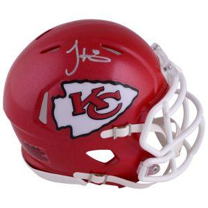 Tyreek Hill Kansas City Chiefs Autographed Riddell Speed Mini Helmet