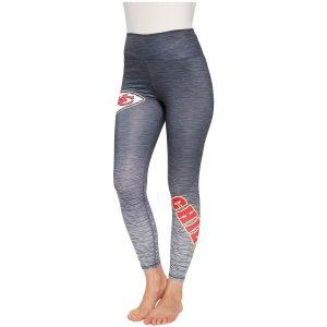 Women's Kansas City Chiefs Concepts Sport Charcoal/Gray Flyaway Knit Sublimated Leggings