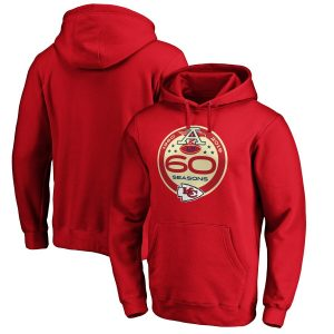 Kansas City Chiefs NFL Pro Line by Fanatics Branded 60th Season Logo Pullover Hoodie – Red