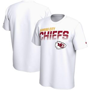 Kansas City Chiefs Nike Sideline Line of Scrimmage Legend Performance T-Shirt – White