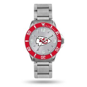Kansas City Chiefs Sparo Personalized Key Bracelet Quartz Watch – Silver