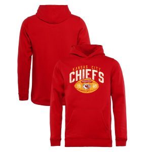 Kansas City Chiefs NFL Pro Line by Fanatics Branded Youth Throwback Collection Coin Toss Pullover Hoodie – Red