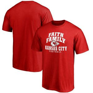 Kansas City Chiefs NFL Pro Line Faith Family T-Shirt – Red