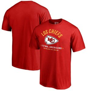 NFL Pro Line by Fanatics Branded Kansas City Chiefs Red Futbol Americano T-Shirt