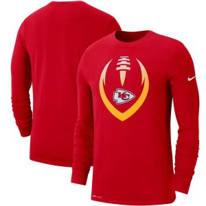Kansas City Chiefs Nike Fan Gear Modern Icon Performance Long Sleeve T-Shirt – Red