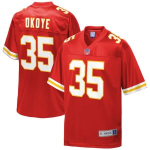 Christian Okoye Kansas City Chiefs NFL Pro Line Retired Player Jersey – Red