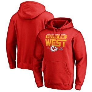 Kansas City Chiefs NFL Pro Line by Fanatics Branded 2018 AFC West Division Champions Fair Catch Pullover Hoodie – Red