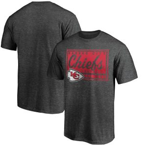 Majestic Kansas City Chiefs Heathered Charcoal Showtime Plaque T-Shirt