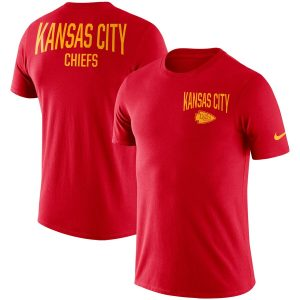 Kansas City Chiefs Nike Sideline Facility Performance T-Shirt – Red