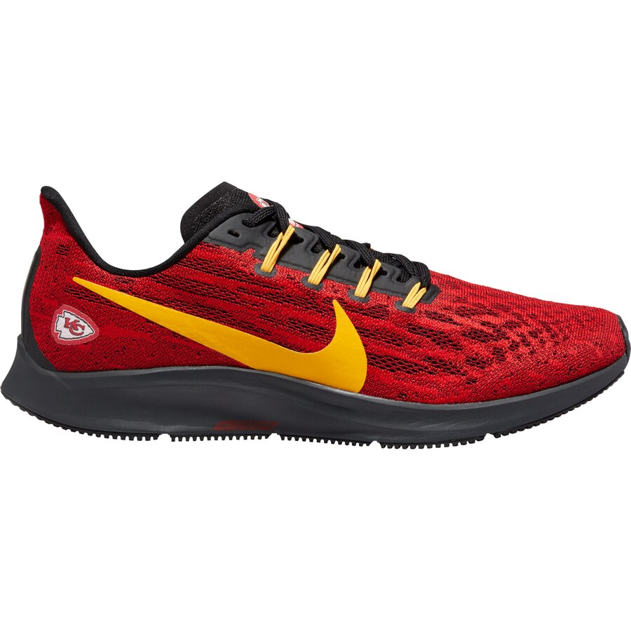red and gold nike shoes