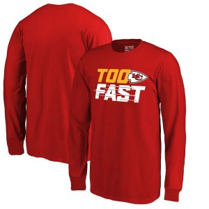 Fanatics Branded Kansas City Chiefs Youth Red Too Fast Long Sleeve T-Shirt