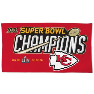 Kansas City Chiefs WinCraft Super Bowl LIV Champions Official On-Field Locker Room Celebration 2-Sided Towel