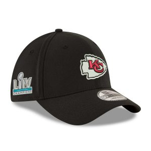 Kansas City Chiefs New Era Super Bowl LIV Champions Side Patch Team Classic 39THIRTY Flex Hat – Black