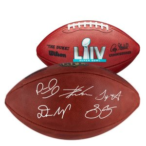Super Bowl LIV Champions Super Bowl Duke Pro Football with Multiple Signatures – Limited Edition of 54