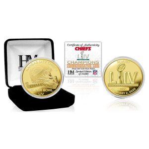 Kansas City Chiefs Highland Mint Super Bowl LIV Champions Gold Mint Coin