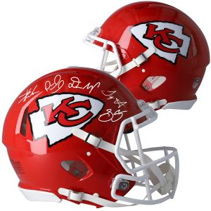 Kansas City Chiefs Fanatics Authentic Autographed Super Bowl LIV Champions Riddell Speed Authentic Helmet with Multiple Signatures – Limited Edition of 54