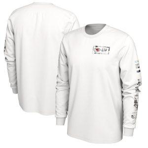 Kansas City Chiefs Nike Super Bowl LIV Bound Media Opening Night Long Sleeve T-Shirt – White