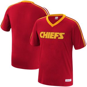 Kansas City Chiefs Mitchell & Ness Overtime Win V-Neck T-Shirt – Red